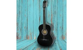 "Acoustic Guitar 38"" Full Size Adult Black Includes"