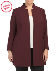 TAHARI BY ASL Plus Stand Collar Open Topper