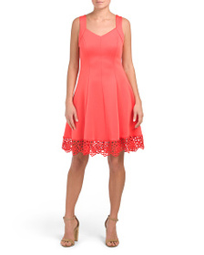 DONNA RICCO Sweetheart Neck Fit And Flare Dress