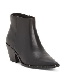CHARLES BY CHARLES DAVID Pointy Toe Leather Bootie