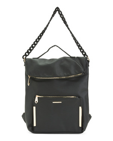 RAMPAGE Foldover Backpack With Chain Detail