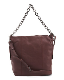 KOOBA Leather Dante Large Triple Compartment Hobo