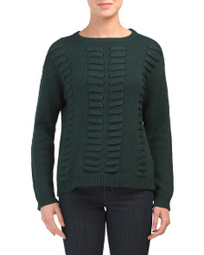 VINCE CAMUTO Lace Through Front Sweater