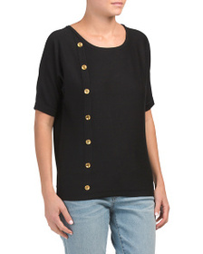 CABLE & GAUGE Boat Neck Dolman Sweater