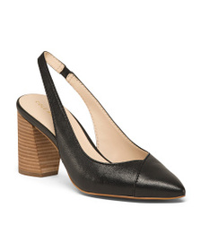 reveal designer Slingback Leather Comfort Pumps