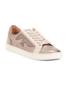 FRYE Logo Patch Leather Sneakers