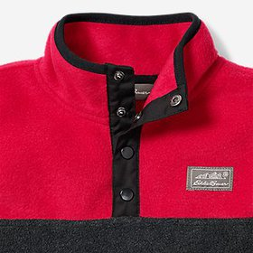 Boys' Quest Fleece Snap-Neck Pullover