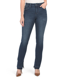 MAX STUDIO High Rise Slim Straight Jeans