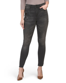 SEVEN7 High Rise Skinny Jeans With Sequin Accent