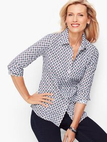 Talbots Perfect Shirt - Geo Hearts