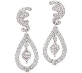 """""""As Is"""" Diamonique Royal Collection Earrings, Ster"""