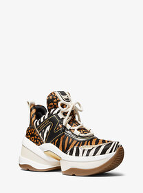 [object Object] Olympia Animal-Print Calf Hair and
