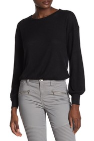 Rampage Cozy Long Sleeve Rib Top
