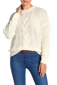 One A Cable Knit Pullover Sweater (Petite)
