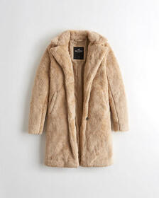 Hollister Cozy Coat, LIGHT BROWN