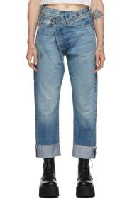 R13 Blue Crossover Jeans