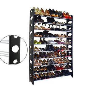 Zimtown 50 Pair 10 Tier Shoe Tower Rack Organizer