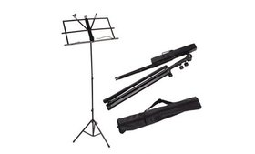 Adjustable Folding Music Stand Black w/ Carrying B