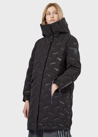 Armani Padded parka in windproof, water-repellent