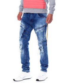 Buyers Picks blown out pocket cargo stretch jean
