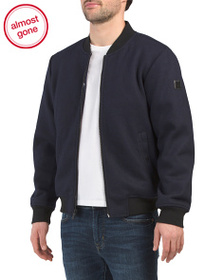 KENNETH COLE NEW YORK Wool Blend Bomber Jacket
