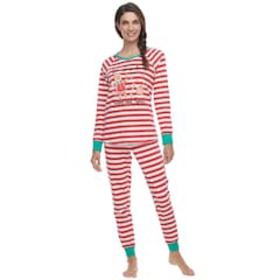 Women's Jammies For Your Families Stripe Baking To