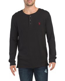 US POLO ASSOCIATION Long Sleeve Thermal Henley