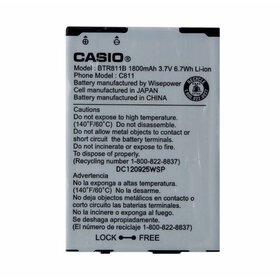 OEM Casio BTR811B 1800mAh Replacement Battery for
