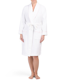 JONES NEW YORK Terry Spa Robe With Contrast Piping