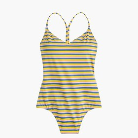 J. Crew T-back one-piece swimsuit in sunshine stri
