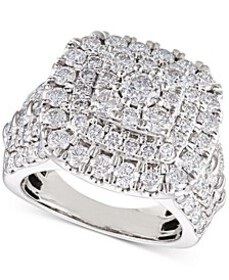 Diamond Cluster Cushion Engagement Ring (4 ct. t.w