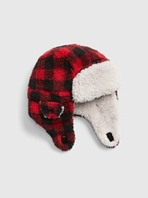 Toddler Buffalo Plaid Trapper Hat