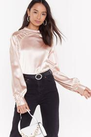 Nasty Gal Blush There's a New Pearl in Town Satin