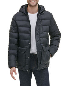 Kenneth Cole New York Men's Quilted Jacket with Bi