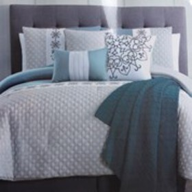CATHERINE MALANDRINO Quilted King 8-Piece Bedding