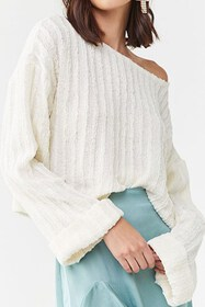 Forever21 Ribbed Boat Neck Sweater