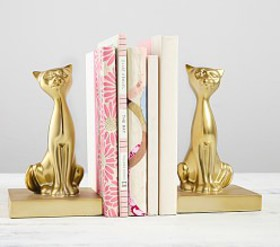 Pottery Barn Kitty Bookends
