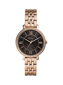 Fossil Jacqueline Rose Goldtone Stainless Steel &