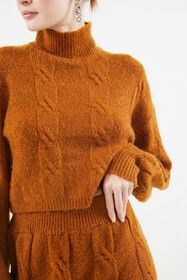 UO Mercer Cable Knit Turtleneck Sweater