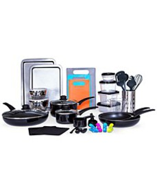Kitchen-In-A-Box 64-Pc. Cookware & Food Storage Se
