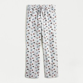 J. Crew Flannel lounge pant in hat print