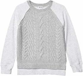 Splendid Littles Sweater Knit Fleece Top (Big Kids