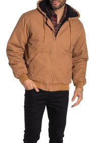 Wolverine Houston Hooded Canvas Zip Quilted Jacket