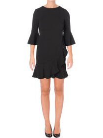 Lauren Ralph Lauren Womens Petites Mini Ruffled Pa