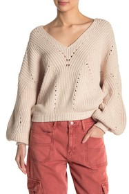 Free People All Day Long Knit Sweater
