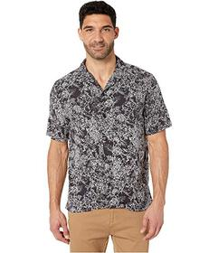 Perry Ellis Abstract Floral Print Short Sleeve Shi