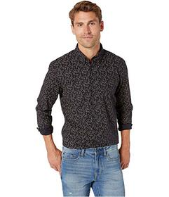 Ben Sherman Long Sleeve Dot Floral Print Shirt