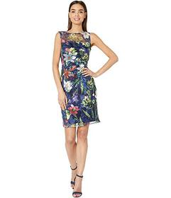 Tahari by ASL Sleeveless Embroidered Mesh Floral D