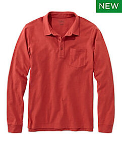 LL Bean Lakewashed Organic Cotton Polo with Pocket