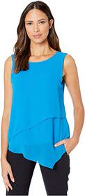 Vince Camuto Sleeveless Asymmetrical Hem Double La